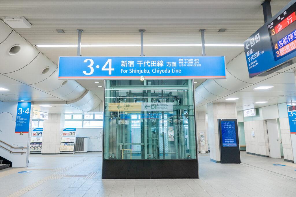 登戸駅の改札階